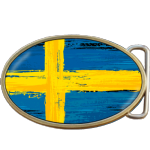 Sweden Grunge Swedish Flag Belt Buckle. Code A0033